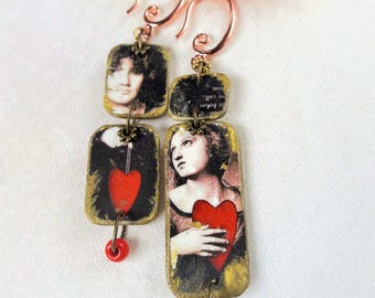 Declaration of love earrings