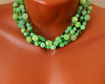 """Necklace """"Green Grapes"""""""