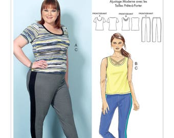 Sewing Pattern Misses'/Women's Knit Tops & Elastic-Waist Pants, Connie Crawford , Butterick Pattern 6498, Plus Sizes to 6X Available