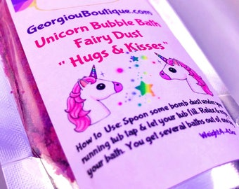 Unicorn dust/Unicorn bubble bath dust/fairy dust/unicorn bubble bath/4-5oz/Organic/bubble bar/unicorn bubble bar