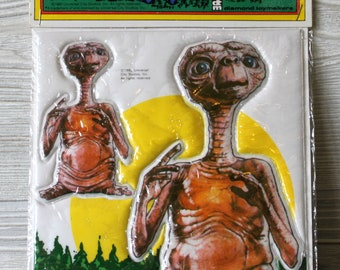 1982 E.T. Extra Terrestrial Stick-Ons Puffy Stickers by Diamond Toymakers