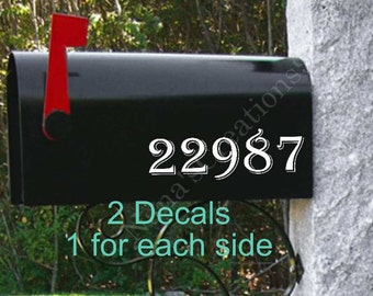 Vinyl House Numbers Etsy - Custom vinyl decals numbers