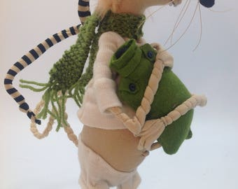 JM961E - Ratty with Hottie ,  PDF Cloth Animal/Rat Doll Making Sewing Pattern
