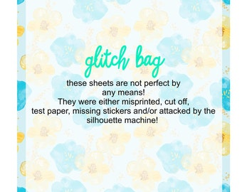 Glitch Bag - 5 sheets of stickers