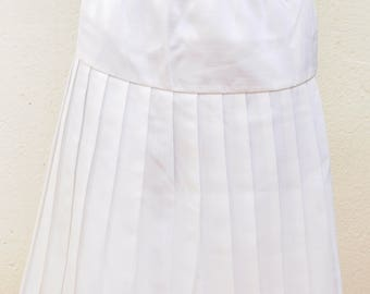 Vintage white pleated skirt Size 36 FR