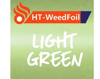 HT WeedFoil Heat Transfer Vinyl - Iron On - HTV - Light Green Foil