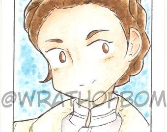 Star Wars Fan Art Sketch Card: Princess Leia on Hoth