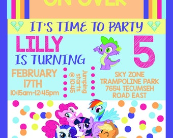 My Little Party Invitation