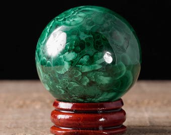 40mm MALACHITE Sphere - Malachite Crystal, Malachite Stone, Polished Malachite, Green Crystal Ball, Crystal Sphere, Malachite Ball 36745
