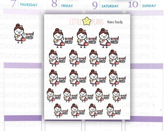 Mimi - Shopping Addict: Want Planner Stickers (MI019)