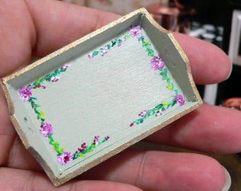 Tray 1:12 for hand-painted, Dollhouse Accessories for Dolls House