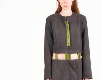 Warrior's Fun Wool Trench Coat Casual Woman Zipper Trench