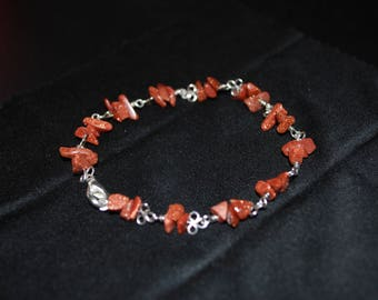 Bracelet with Golden rain stone