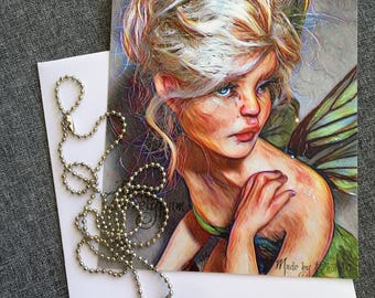 Necklace + postcard Tinkerbell's key - Bibs Lovelypam