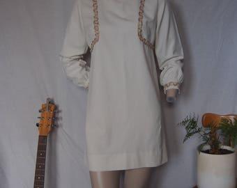 70s mini dress long sleeve size 10