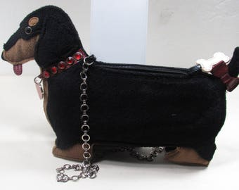 Vintage INDEED Dachshund Dog Handbag Clutch Purse