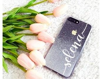 Silver Glitter Phone case iPhone 8 case iPhone 8 PLUS case iPhone X case iPhone 10 case iPhone case iPhone 7 case iphone 7 plus case