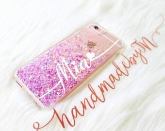 Pink Purple Phone case iPhone 7 case iPhone 7 Plus case iPhone 6S case iPhone 6S Plus case iPhone 8 case iPhone 8 Plus case iPhone x case