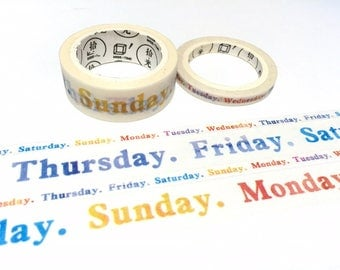 7 days a week Washi tape 7M weekly planner sticker time schedule maker daily task school study class meeting planner sticker tapes gift deco