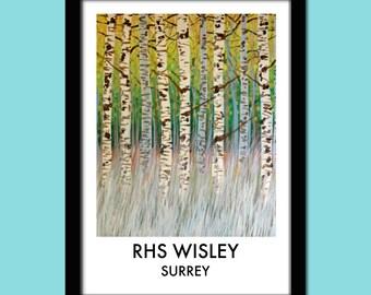RHS Wisley Travel Poster