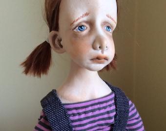 Art doll  Ooak art doll  Art clay doll  Handmade doll