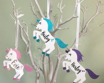 SALE, Personalised Unicorn Gift, Unicorn Decoration, Personalised Unicorn Decoration, Unicorn Ornament, Unicorn Keepsake, Unicorn Gift.