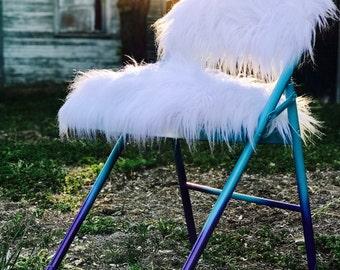 Faux Fur Folding chair