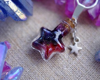Universe jewelry, nebula necklace - Space jewelry, bottle charm, bottle necklace, galaxy bottle, galaxy necklace, galaxy, star, sky