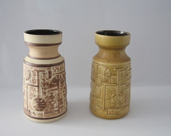 Lovely BAY 953-20 vases - Decor Narvik, West German Pottery - Fat Lava - WGP
