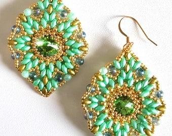 Orecchini Verde/Oro
