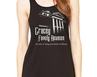 Gracey Family Reunion Disney Haunted Mansion tank Disney Halloween Tank Disneyland Shirt Disney World Shirt Magic Kingdom shirt
