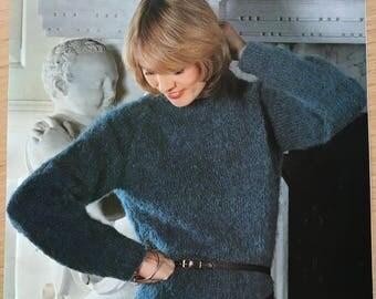 Robin Vintage Knitting Pattern, Ladies Jumper Knitting Pattern, Ladies Sweater Knitting Pattern, Ladies Long Jumper, Robin No. 2761