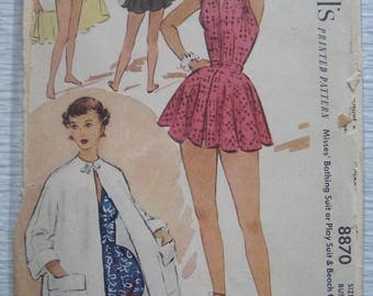 vintage 8870 McCalls BATHING SUIT sewing pattern