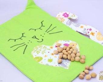 The cherry pits cat shaped heating pad