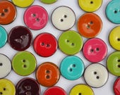 Coconut Buttons - Colourf...