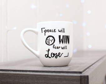 Peace Will Win, Fear Will Lose Mug Twenty One Pilots