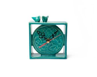 Decorative love bird clock