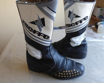 vintage BIEFFE Pibi classic motocross LEATHER boots.was 100 now is 80 discaunt