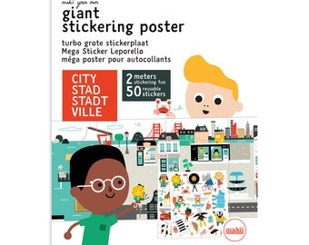 Giant stickering poster 'CITY' (29 X 100 cm)