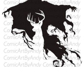 expecto patronum Harry Potter stencil / home decor / card making / reusable stencil / stencil mark reusable for arts and crafts / wall stenc