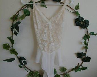 Vintage Victoria's Secret White Lace Lingerie
