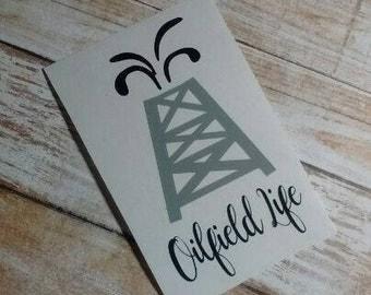 Driller Decal/Oil Life Decal/Derrick Decal/Oil Field/ Oil Rig Decal /Texas Oil/Oilfield Wife/Oilfield Life/Black Gold Decal/TexasTea
