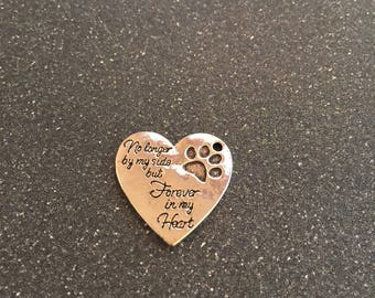 Forever in my heart charm, pet memorial charm