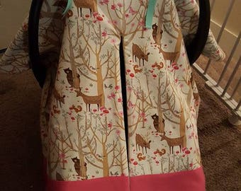 Woodland Creature Car Seat Canopy