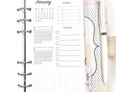 Personal Size Dated 2018 Monthly Overview, Month at a Glance, Monthly Calendar Inserts for Ringbound Planners