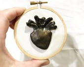 Reserved for SUSANA - Small Anatomical Heart Ceramic Sculpture