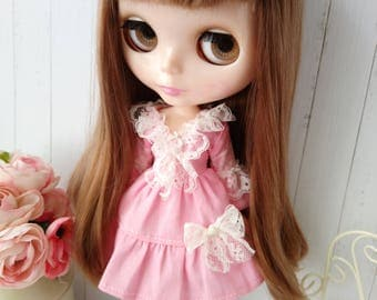 Blythe dress hand made lace clothes outfit miniature doll clothing 1/6 scale vintage style