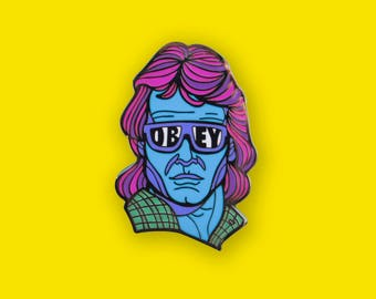 They live John Carpenter Pin - Roddy Piper Horror Movie Lapel Pin