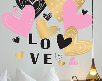 Valentine Decoration, Valentine Decor, Valentines Decor, Valentine Heart, Valentine Hearts, Sign Love, Heart Decor, Valentines Decal
