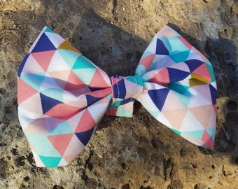 Cute Geometric Triangle Pattern in Pink, Purple, White, Blue, and Gold